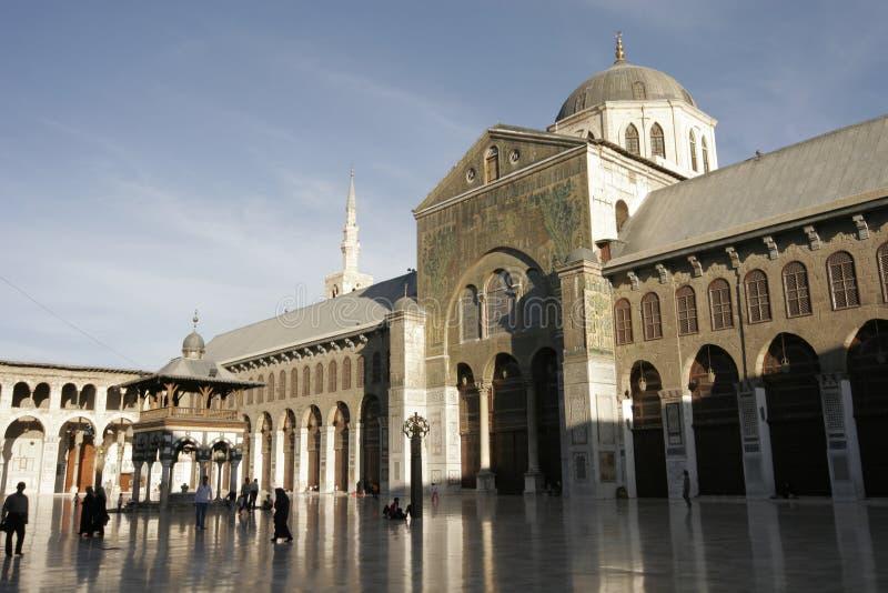 De moskee van Umayyad in Damascus royalty-vrije stock foto