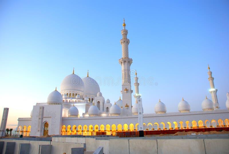 De Moskee van Zayed van de sjeik stock foto's