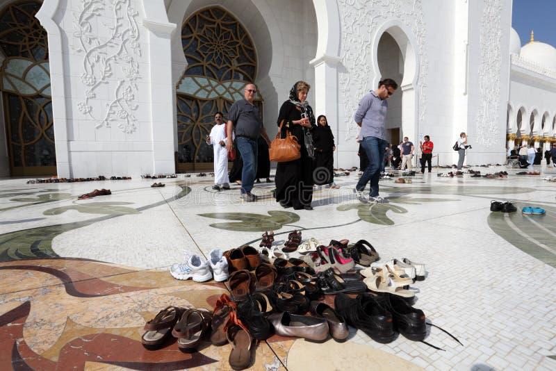 De Moskee van Zayed van de sjeik, Abu Dhabi stock afbeeldingen