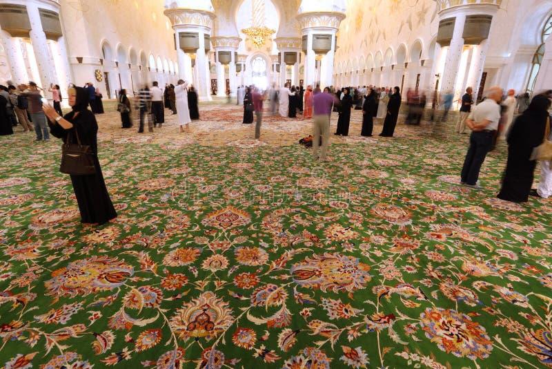 De Moskee van Zayed van de sjeik, Abu Dhabi stock afbeelding