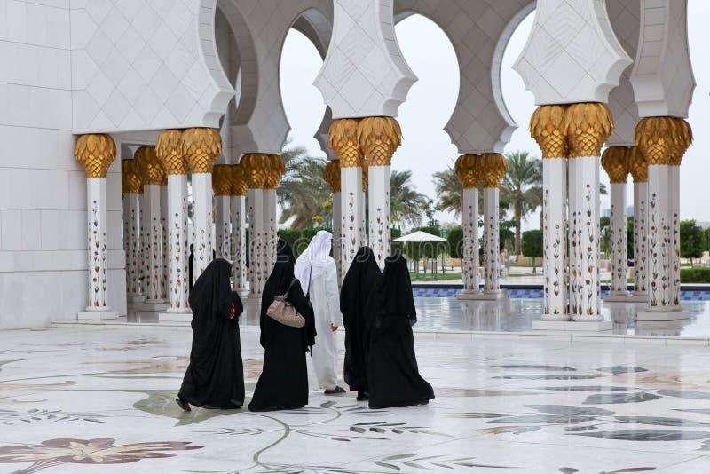 De moskee van Zayed van de sjeik in Abu Dhabi, de V.A.E royalty-vrije stock afbeelding