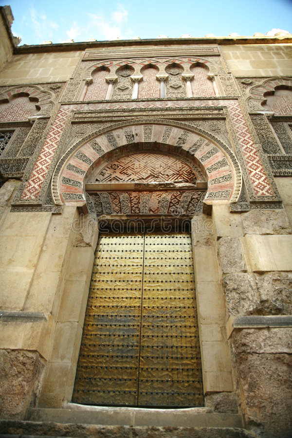 De moskee zijdeur van Cordoba stock foto