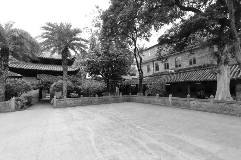 De moskee zwart-wit beeld van Huaishengguangta stock foto's