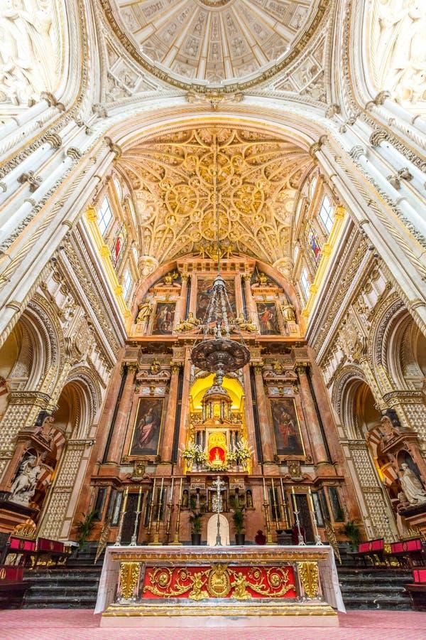 De Moskeekathedraal van Cordoba Mezquita royalty-vrije stock foto's