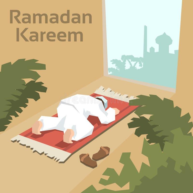De moslimmens bidt Ramadan Kareem Mosque Religion Holy Month