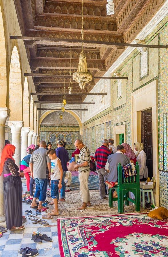 De moslimpelgrims royalty-vrije stock afbeelding