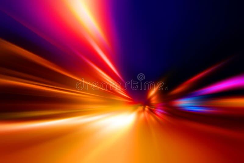 De motie van de snelheid op nachtweg vector illustratie