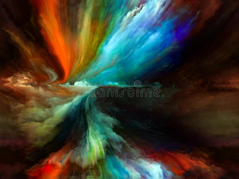 De Motie van de kusofâ Kleur vector illustratie
