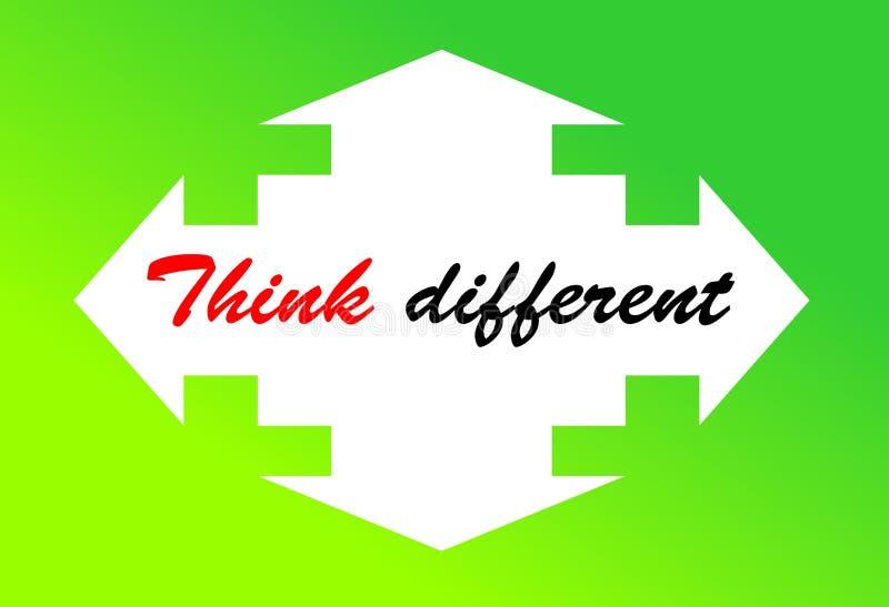 De motivatie en het kleurrijke ontwerpcitaat voor levend, denken verschillend vector illustratie