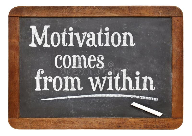 De motivatie komt binnen uit stock foto's