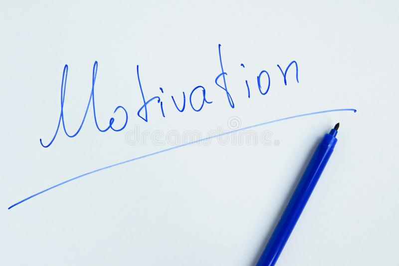` De motivation manuscrit de motivation de ` d'expression images stock
