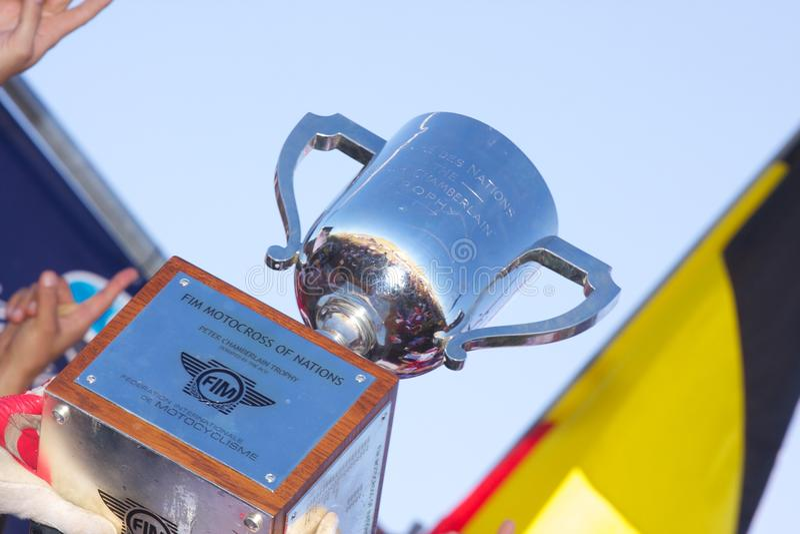 De Motocross van de V.S. van het team van Naties royalty-vrije stock foto's