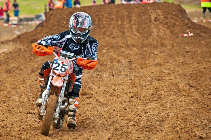 De Motocross van jonge geitjes royalty-vrije stock afbeelding