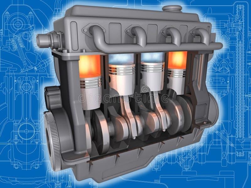 De motor. stock illustratie