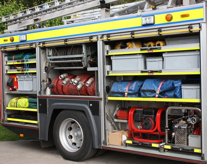 De Motor van de brand. stock foto