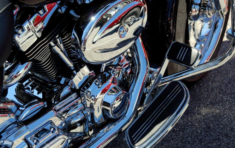 De Motor van de motorfiets stock afbeelding