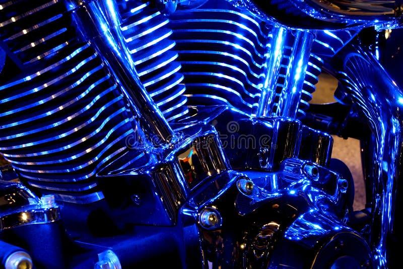 De Motor van de motorfiets royalty-vrije stock afbeelding