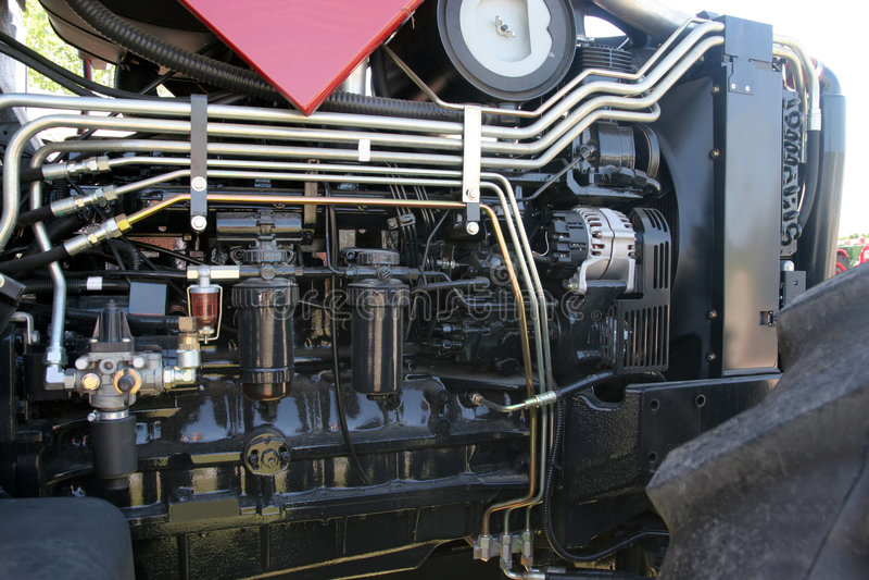 De motor van de tractor royalty-vrije stock afbeelding