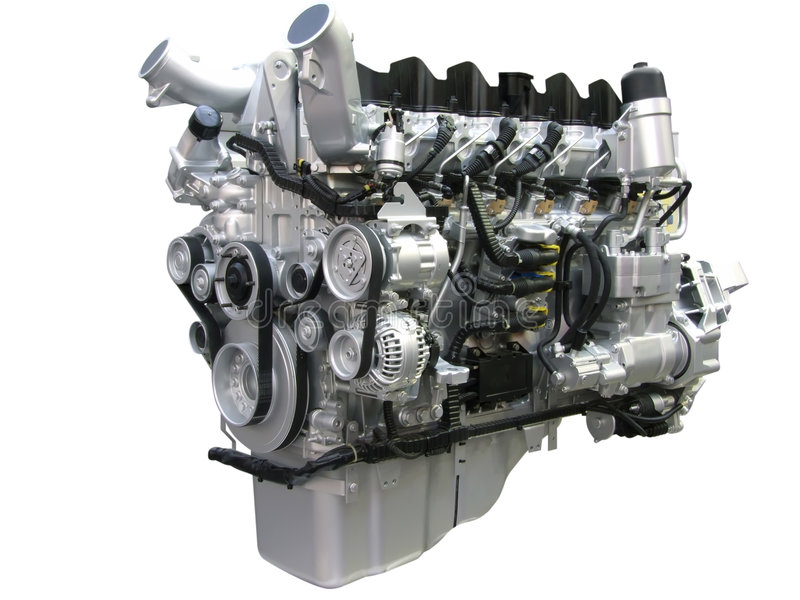 De motor van de vrachtwagen royalty-vrije stock afbeelding