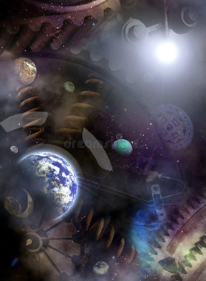 De Motor van het heelal stock illustratie