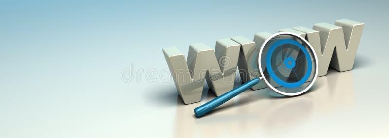 De Motor van het Onderzoek van het Web, het Concept van Internet SEO stock illustratie