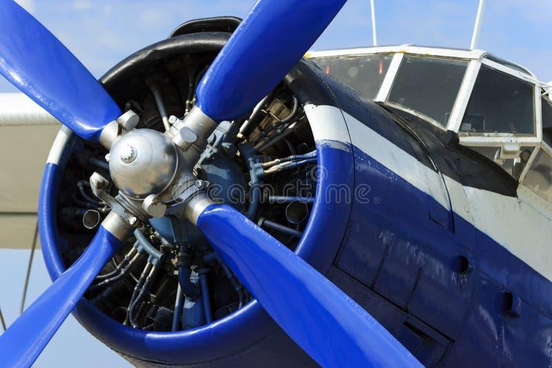 De motor van het propellervliegtuig stock afbeeldingen