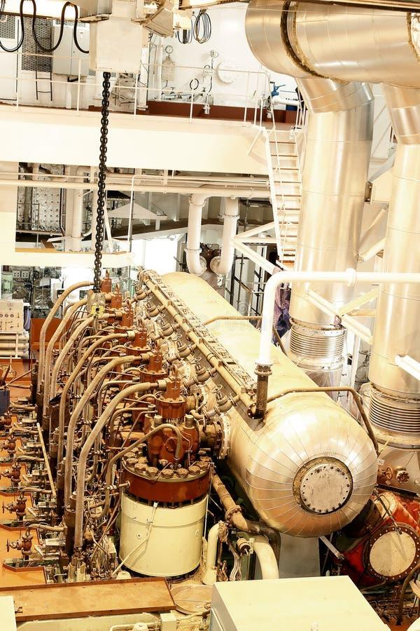 De motor van het schip stock foto's