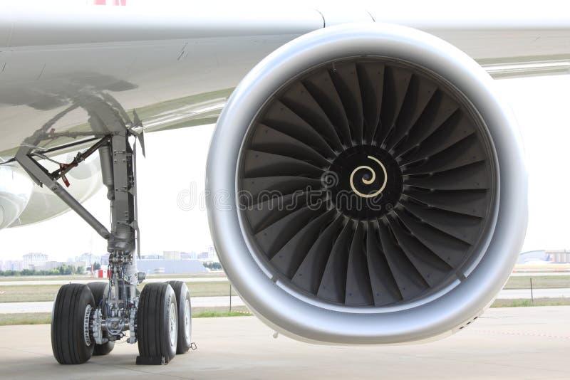 De motor van het vliegtuig stock foto's
