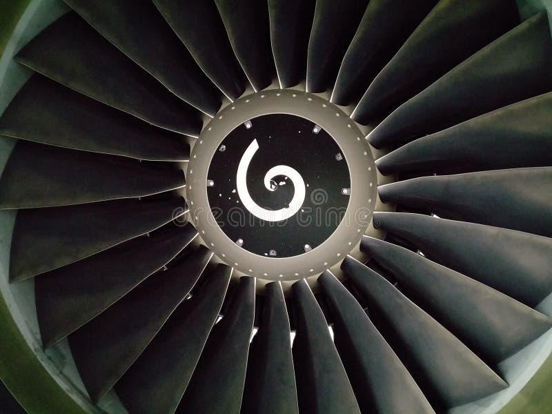 De Motor van het vliegtuig stock fotografie