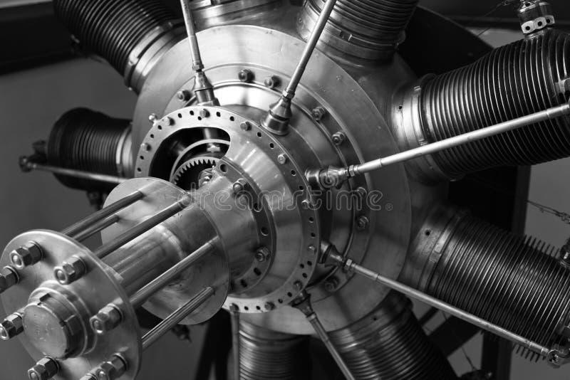 De motor van het vliegtuig - noir royalty-vrije stock afbeelding