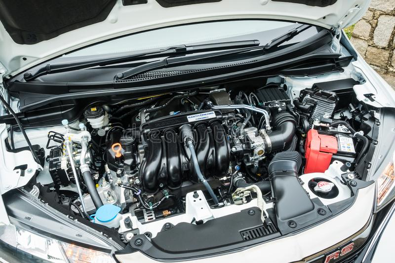 De Motor van MT 2018 van Honda Jazz RS stock foto