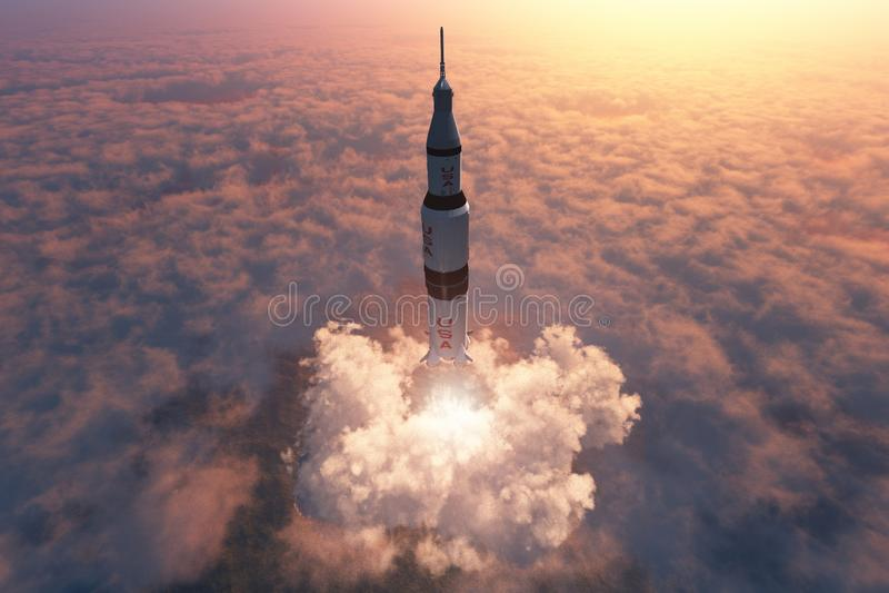 De motor van de raket stock illustratie