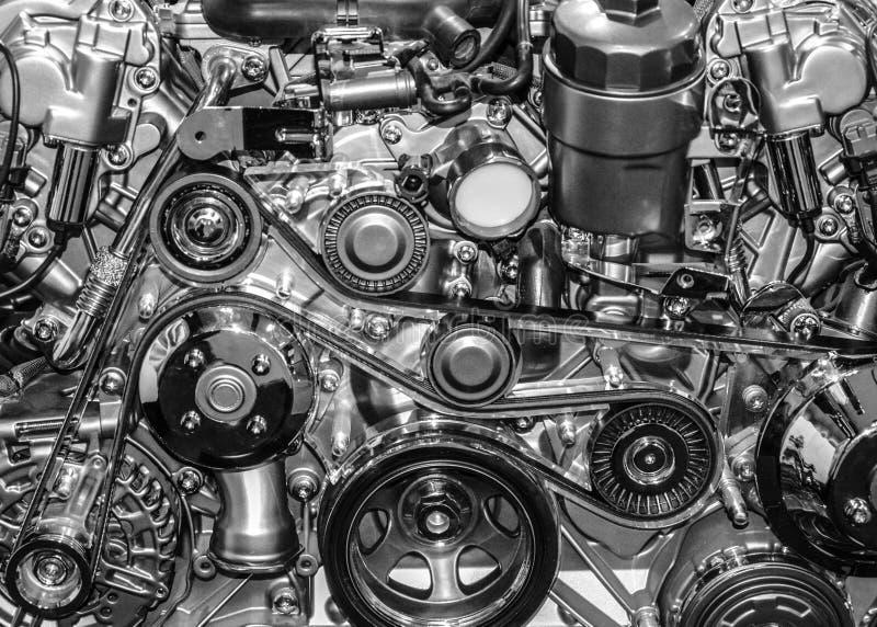 De motor van de sportwagen stock afbeeldingen