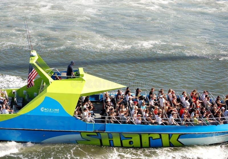 De motorboot van de Haai stock afbeeldingen