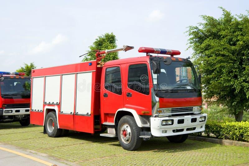 De motoren van de brand in park stock foto
