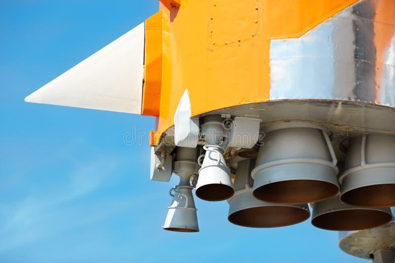 De Motoren van de raket stock foto's