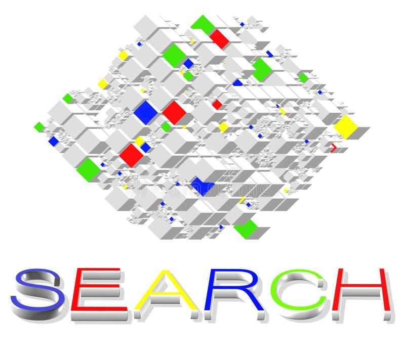 De Motoren van het onderzoek op Internet vector illustratie