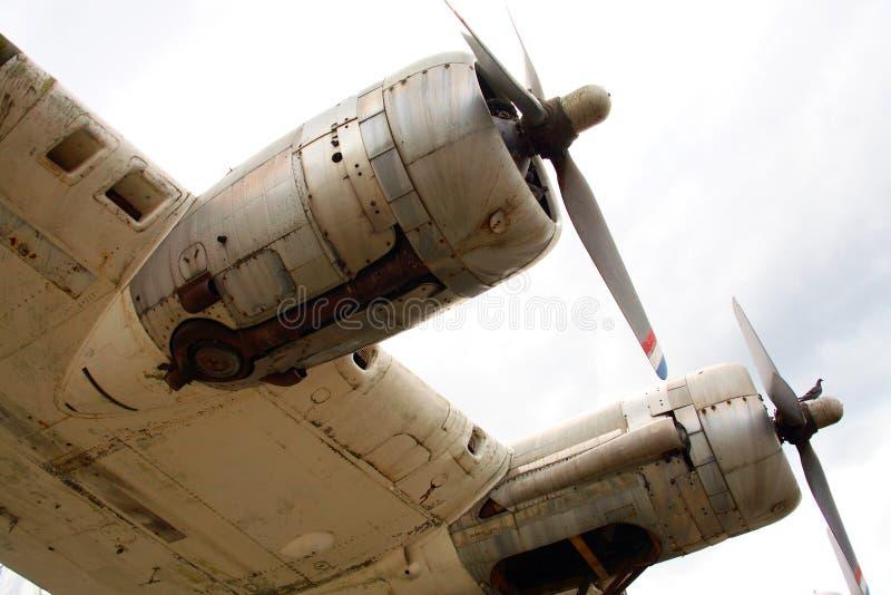 De Motoren van het vliegtuig royalty-vrije stock afbeeldingen