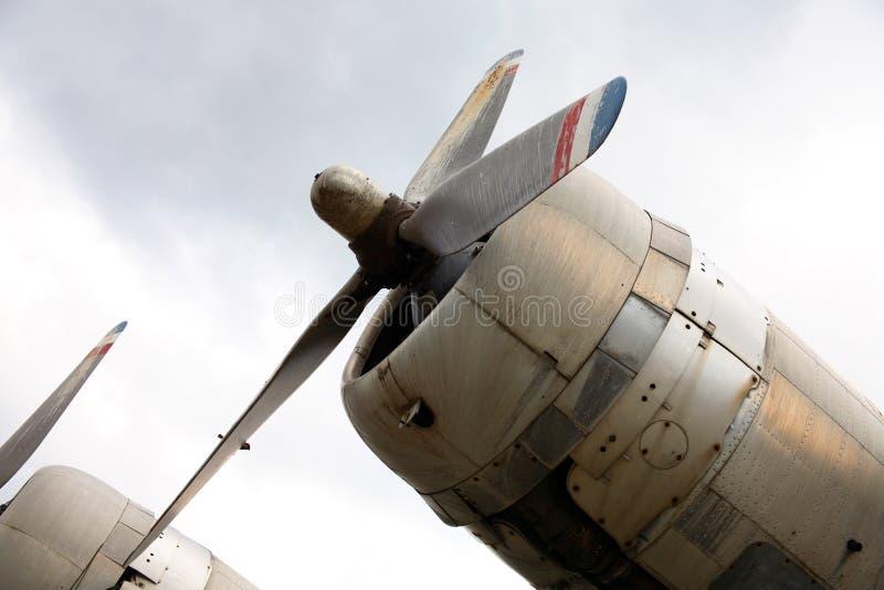 De Motoren van het vliegtuig royalty-vrije stock fotografie