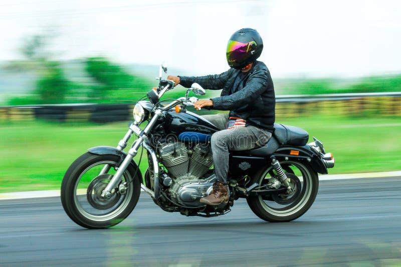 De motorfiets van Davidson van Harley stock foto