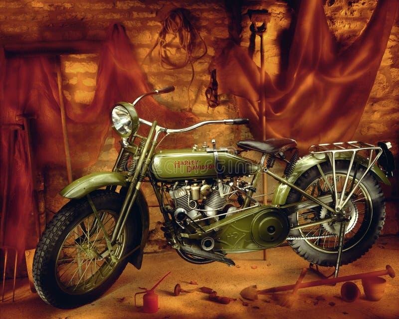 De motorfiets van Davidson van Harley - Wijnoogst 1910 royalty-vrije stock foto's