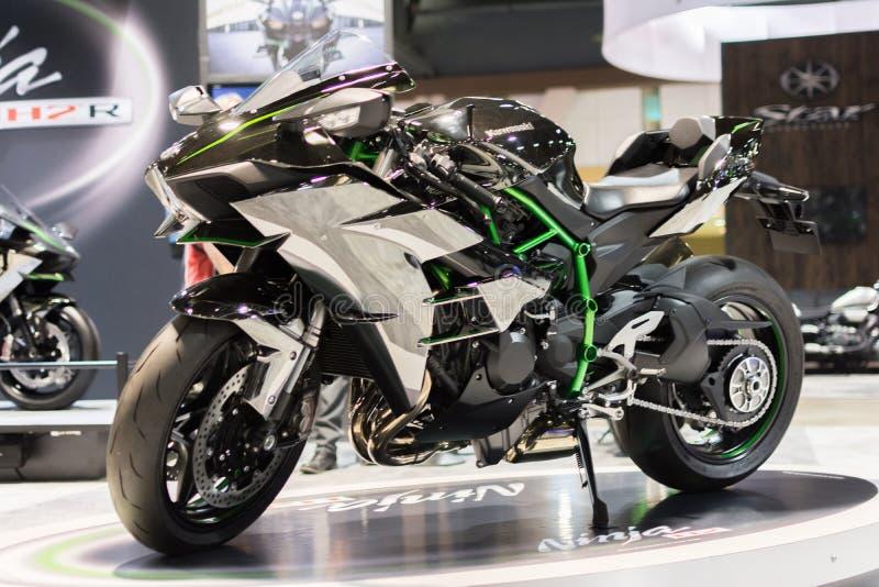 De motorfiets van Kawasaki Ninja H2 2015 stock foto