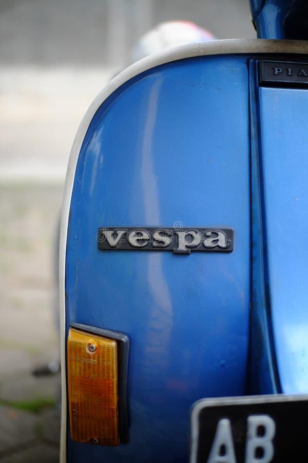 De motorfiets van de Vespaautoped royalty-vrije stock foto