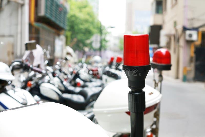 De motorfietsLicht van de politie stock foto's