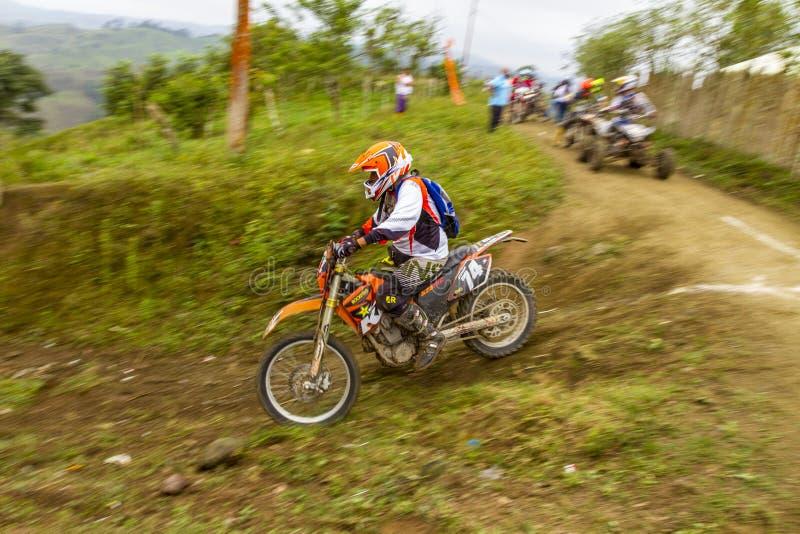 De motorfietsras van Bajapedernales royalty-vrije stock afbeelding