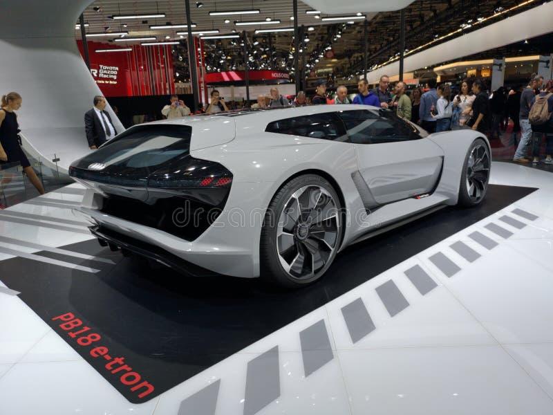 2018 de Motorshow van Parijs, Frankrijk PB18 e-Tron stock afbeelding