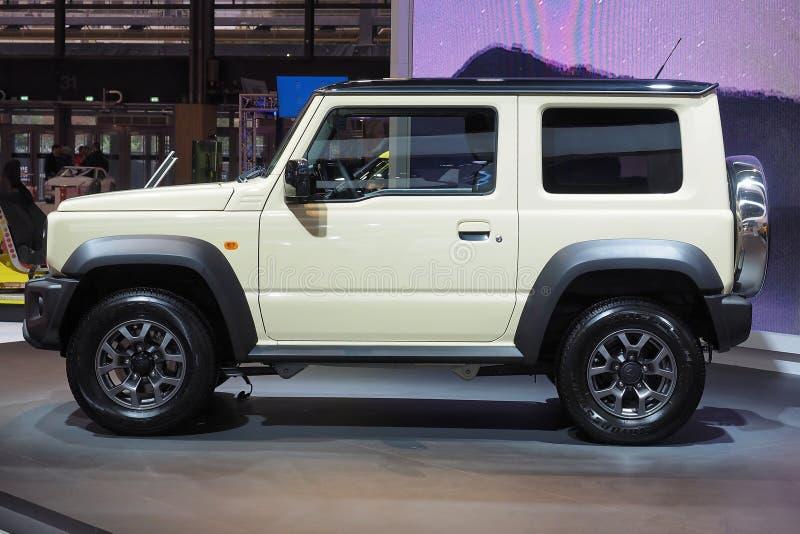 De Motorshow 2018 van Parijs - Suzuki Jimny stock afbeeldingen