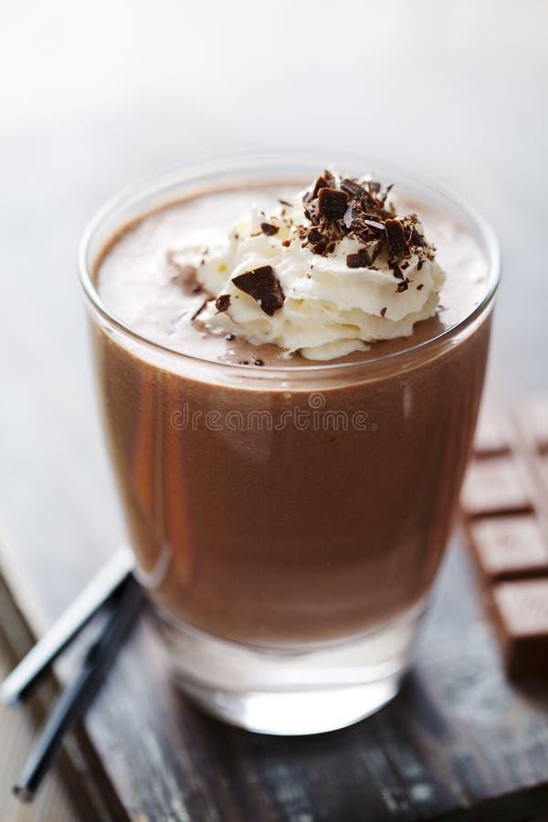 De mousse of de milkshake van de chocolade royalty-vrije stock foto
