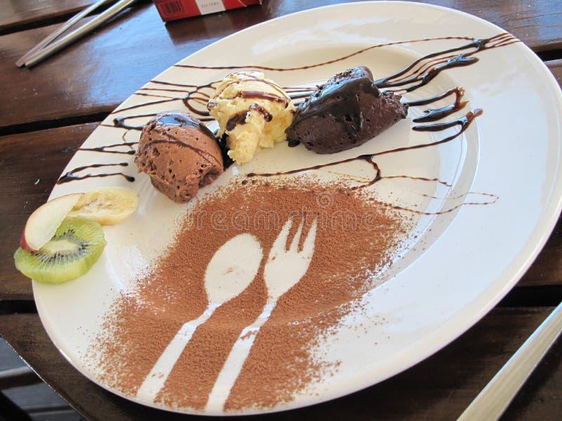 De mousse van de chocolade royalty-vrije stock afbeeldingen