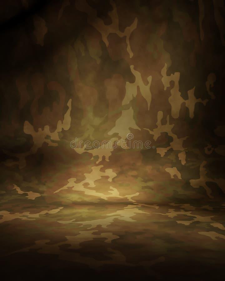De Mousseline van de Camouflage van de woestijn stock illustratie